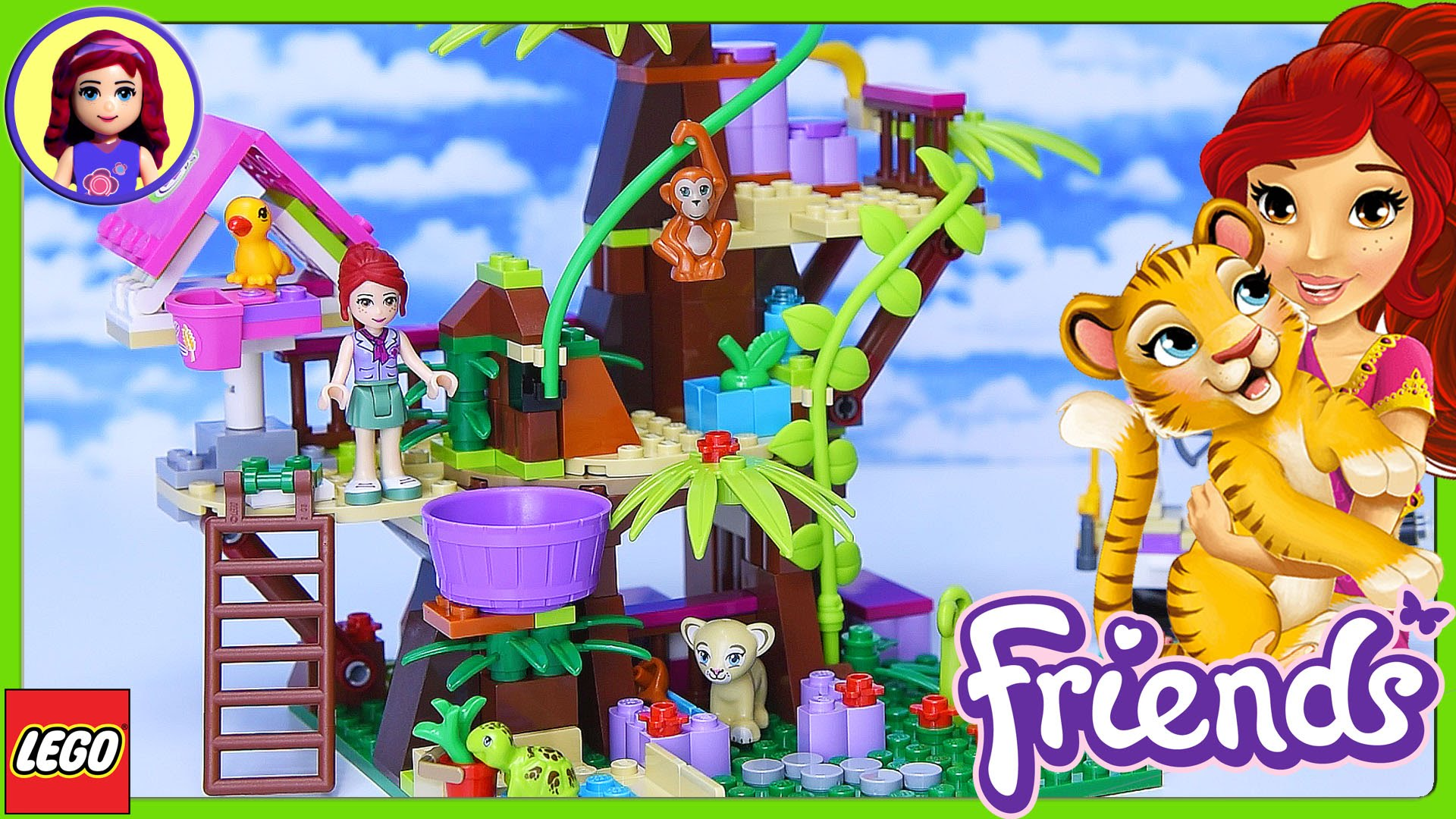 Lego Friends Jungle Tree Sanctuary Build Review Silly Play Kids