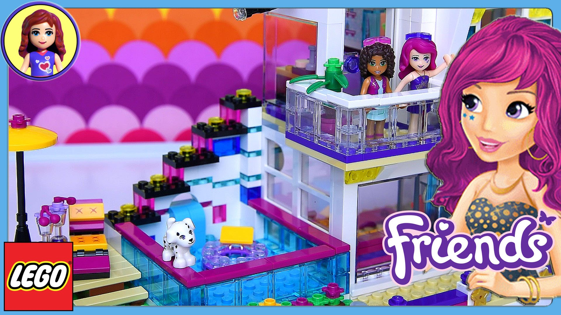 Lego Friends Livi S Pop Star House Set Build Review Play